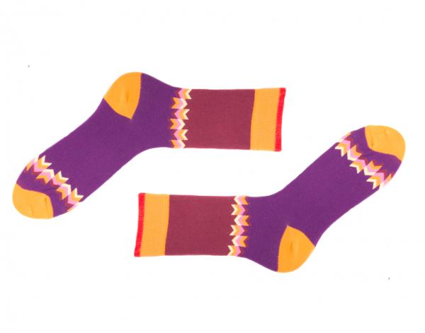 Farbige Damen Socken Olmec