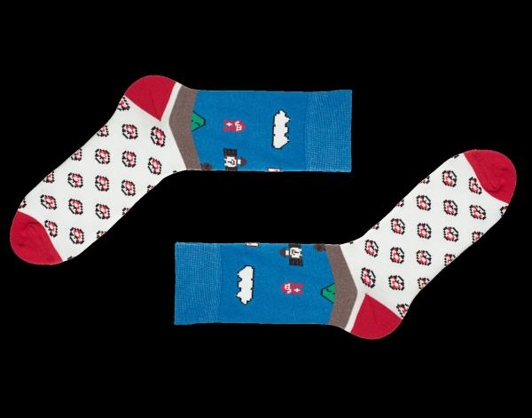 Sammy Icon Socken Super Mario 8-Bit Limitiert