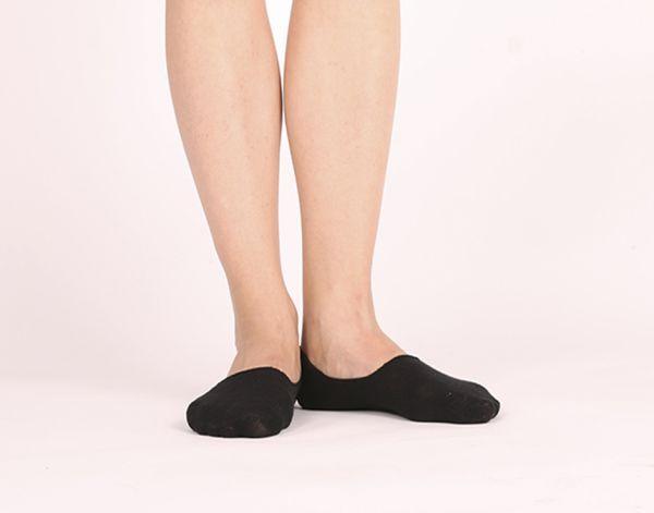 Schwarze Füßlinge Sleeds Socken