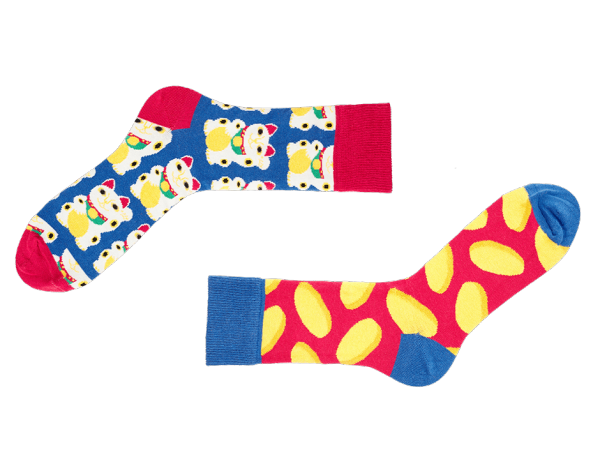 Mismatched Socken Maneki Sammy Icon