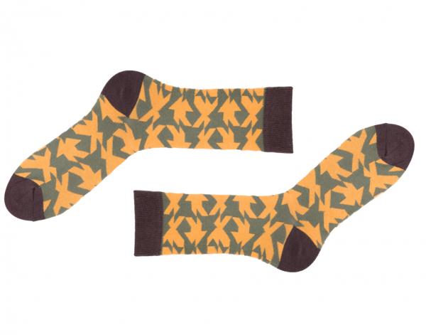 Cuadricula Yellow Socken