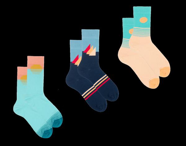 """Socken Geschenk Set """"Acapulco"""""""