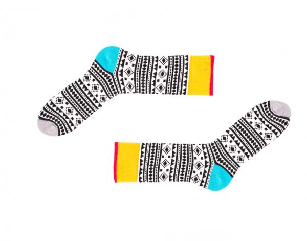Gemusterte Socken Chamanes