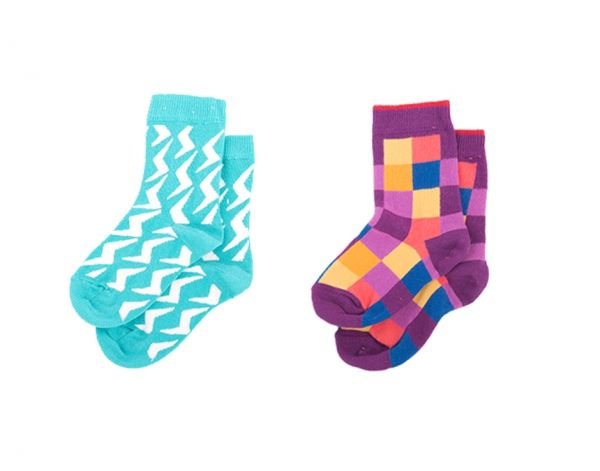 Asymmetry Kinder Socken Set